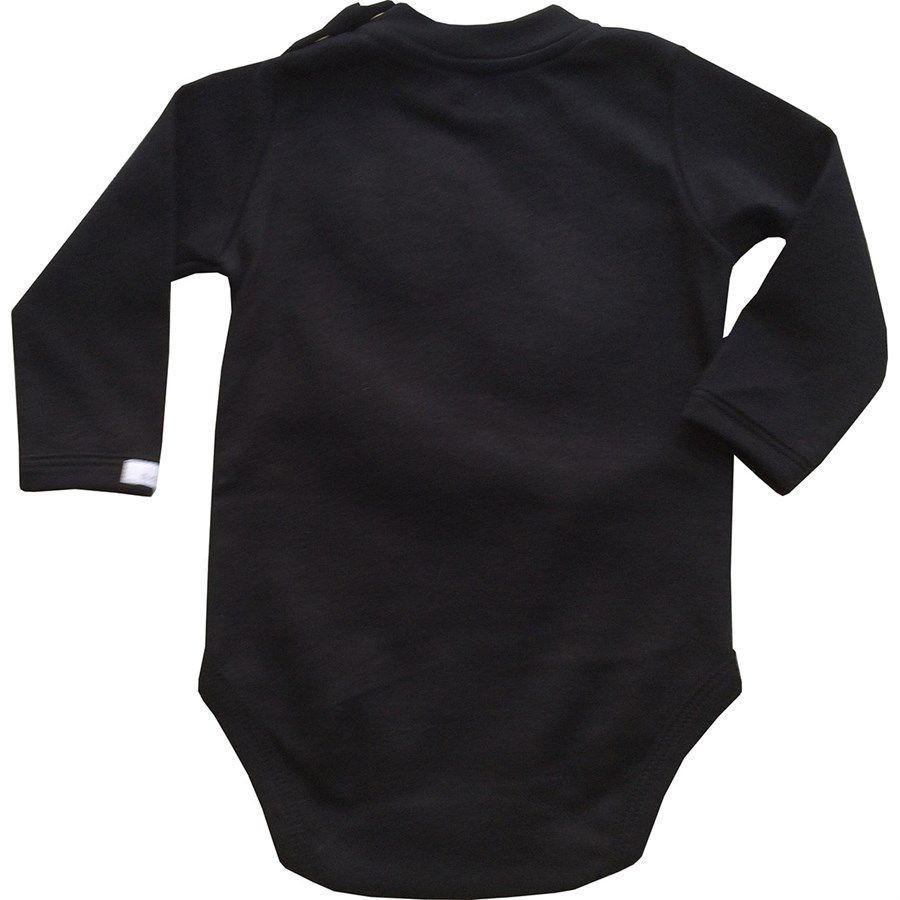 Body bebê unissex dentão suedine preto