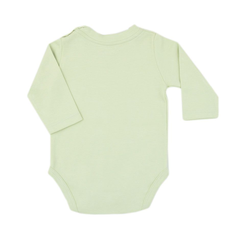 Body bebê unissex polar manga longa suedine verde claro