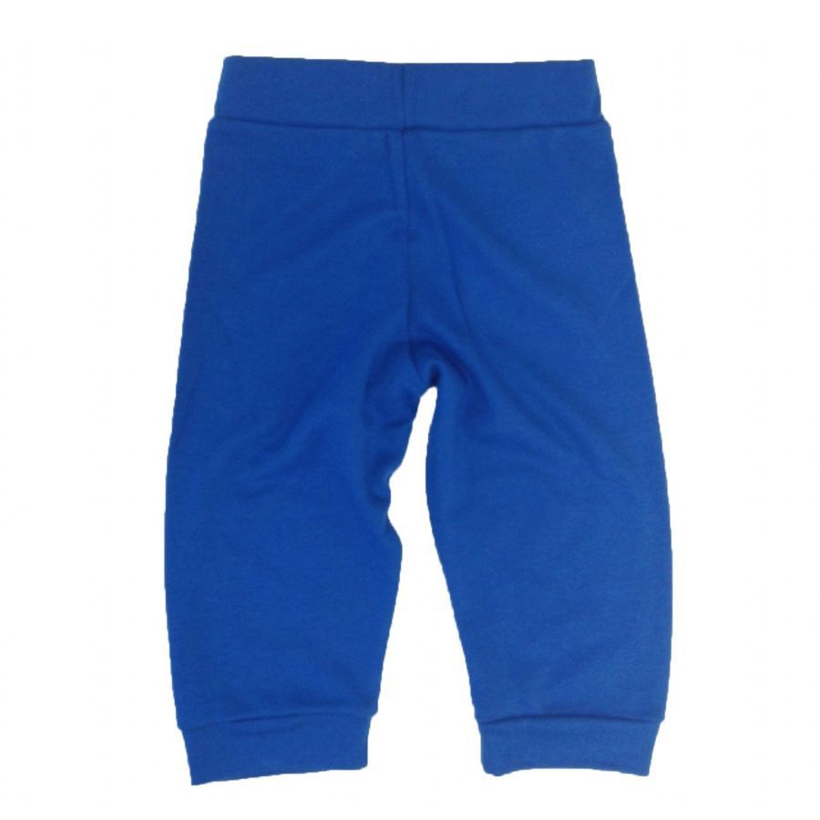 Calça bebê unissex esportiva com punho suedine azul