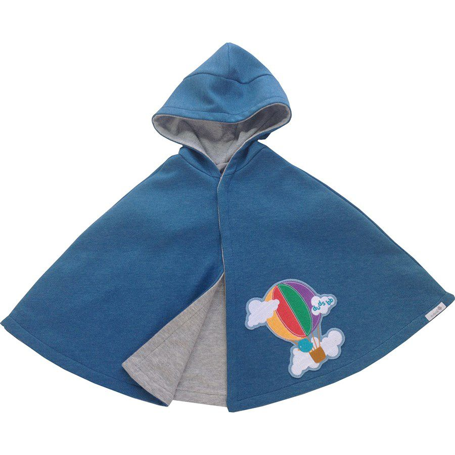 Capa para bebê estilo poncho com capuz balão