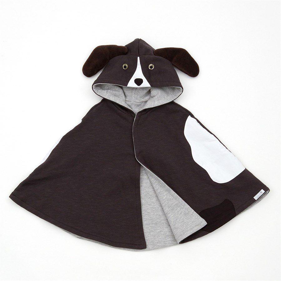 Capa para bebê estilo poncho com capuz cachorro