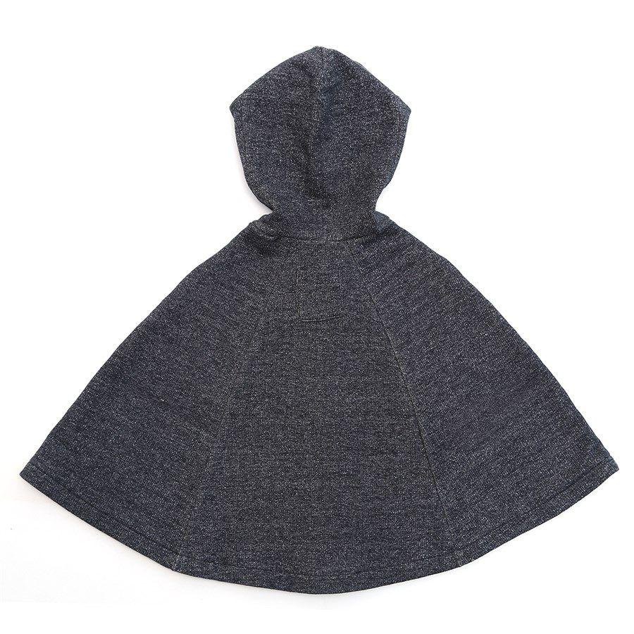 Capa para bebê estilo poncho com capuz coruja