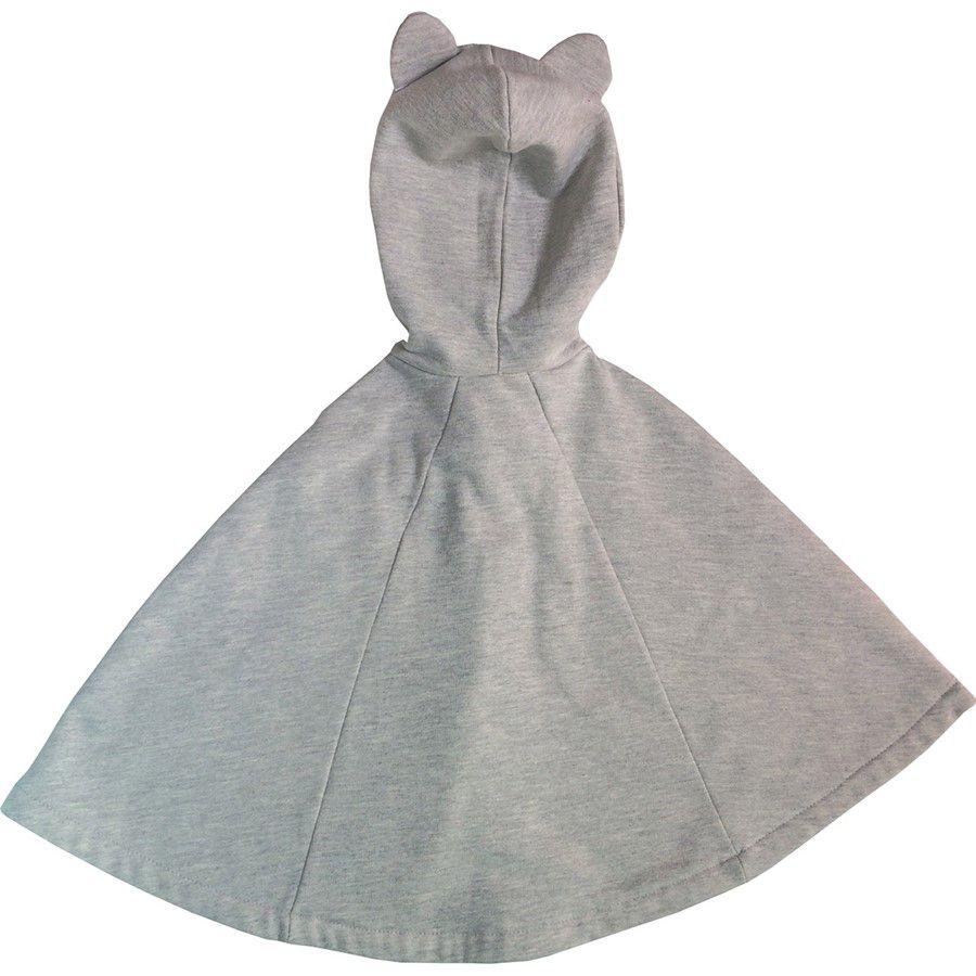 Capa para bebê estilo poncho com capuz guaxinin