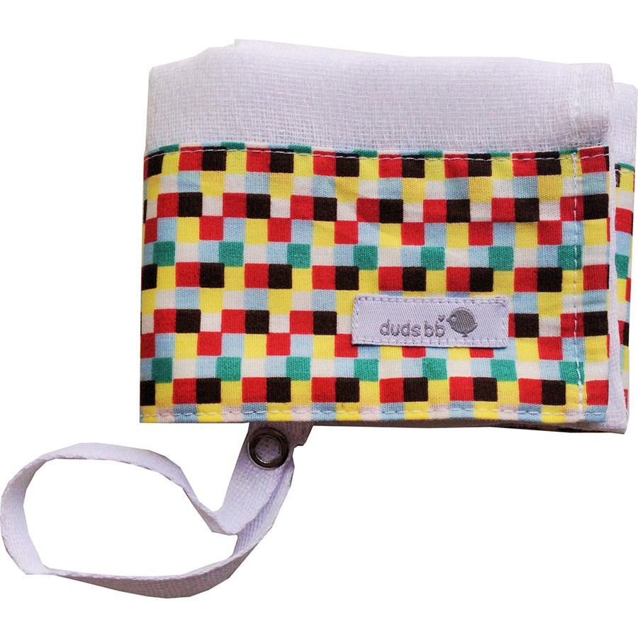 Fraldinha de boca para bebê  quadrados coloridos