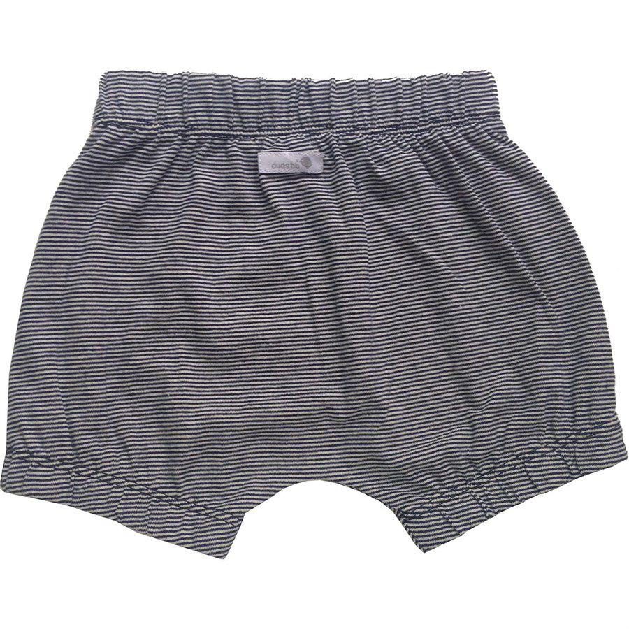 Shorts bebê unissex saruel com elástico listradinho malha  preto e branco
