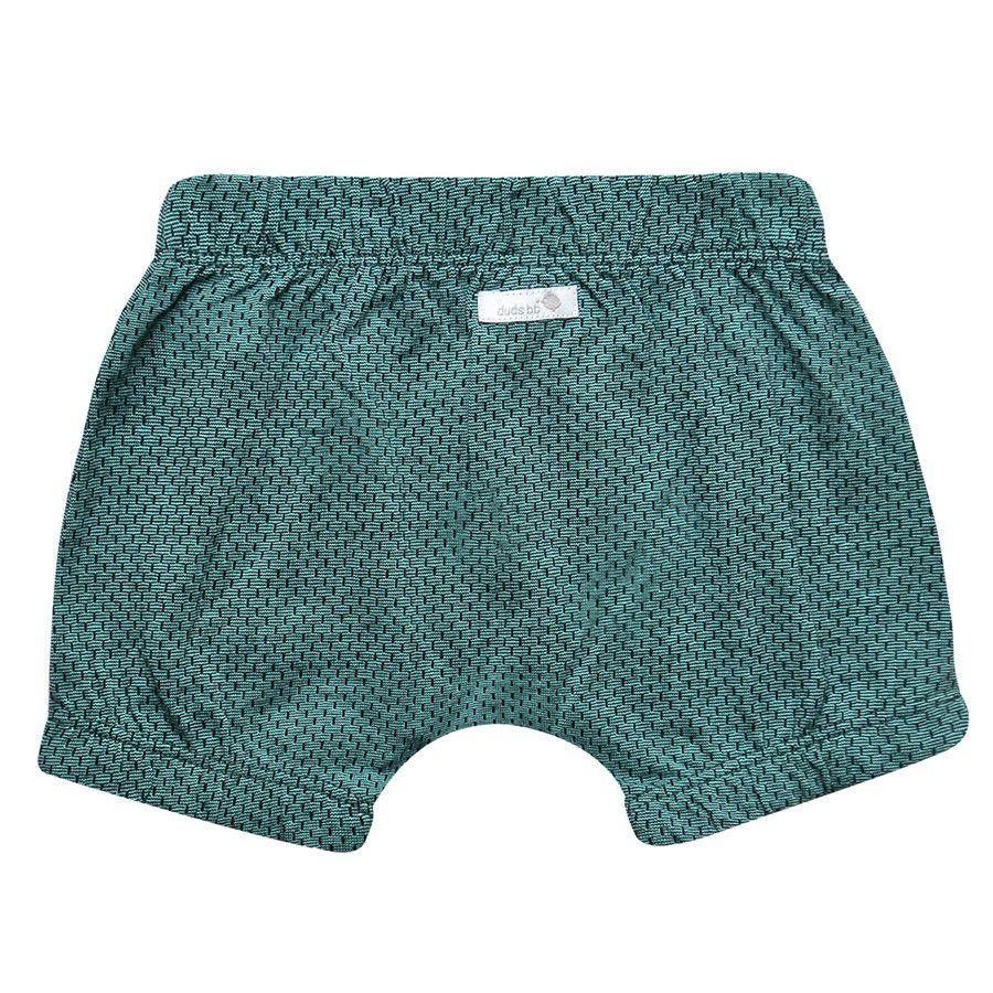 Shorts bebê unissex saruel com elástico com tracinhos malha jaquard verde