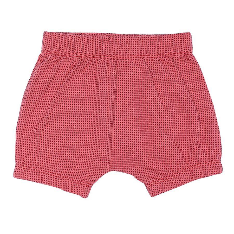 Shorts bebê unissex saruel quadradinhos malha jaquard telha