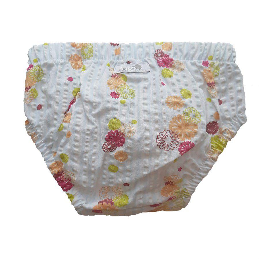 Tapa fralda bebê menina floral colorido tecido plano anarruga azul claro