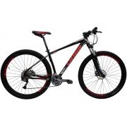 Bicicleta Cairu A29 17.5 Lotus Cinza/Vermelho