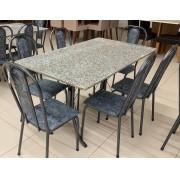Mesa de granito com 6 cadeiras