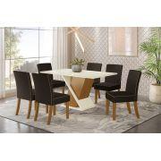 Mesa Henn Solus c/ 06 cadeiras Maris
