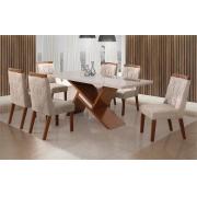 Mesa Leifer Agata com 6 Cadeiras 1.80