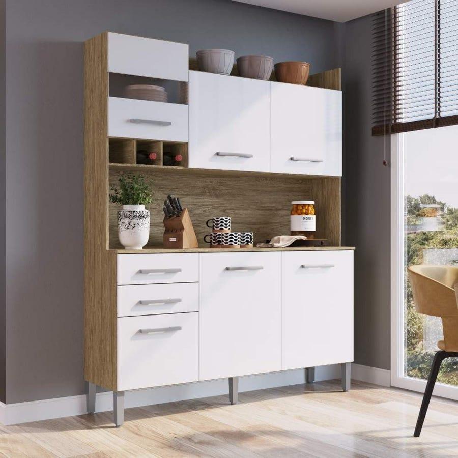 Armário de Cozinha Decibal 6 pts Wood