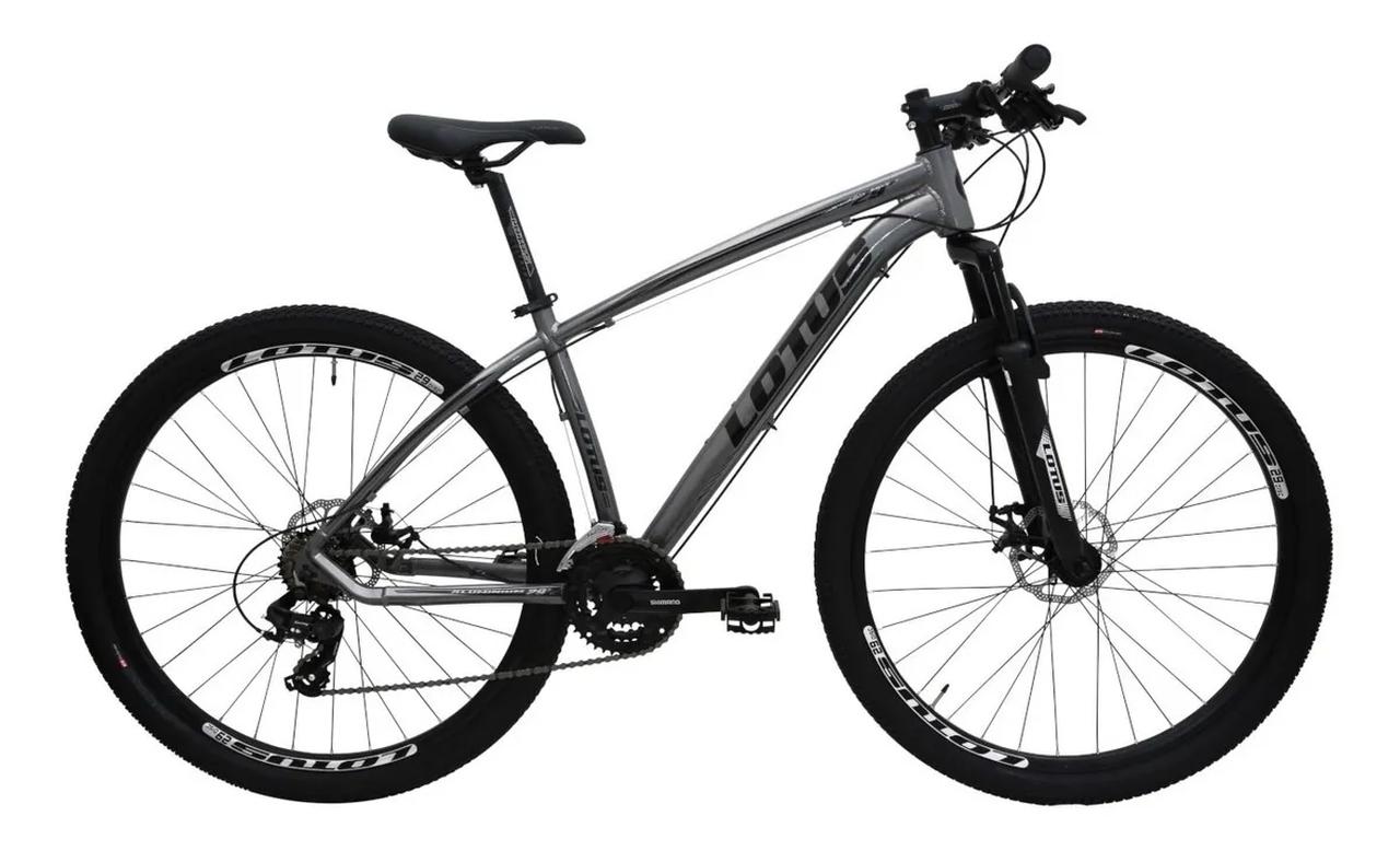 Bicicleta Cairu A29 17.5 Lotus Cinza/Preto