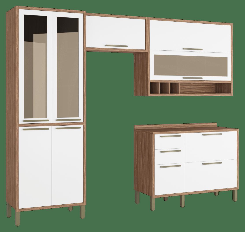 Cozinha Syrah 4 Peças Sevilha/Branco