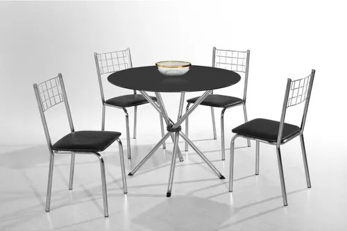 Mesa Aço Nobre Liz 4 cadeiras