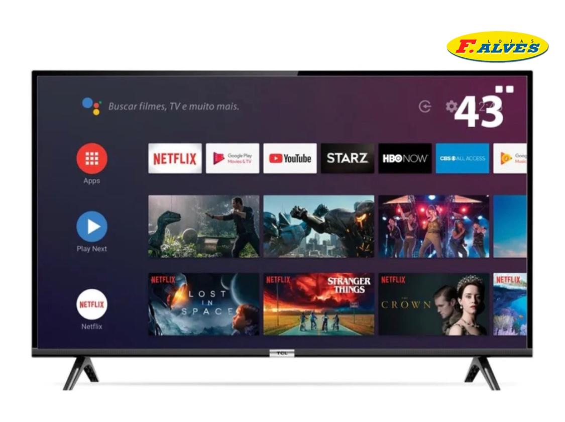 Smart TV 43S6500FS 43 LED TCL Full HD Android WiFi