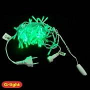 CORDÃO DECORATIVO FIO BRANCO COM 100 LEDS LUZ VERDE - G-LIGHT
