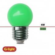 LAMPADA BOLINHA G-LIGHT LED G45 VERDE 220V