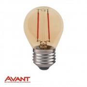 LAMPADA FILAM LED BOLINHA AVANT G45 2W E27