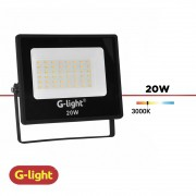 REFLETOR LED G-LIGHT 20W LUZ QUENTE
