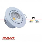 SPOT LED EMB RED 5W BF BIV 1373