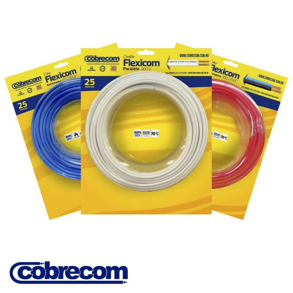 CABO FLEXICOM ANTICHAMA COBRECOM 25 METROS 6,00MM2 450/750V