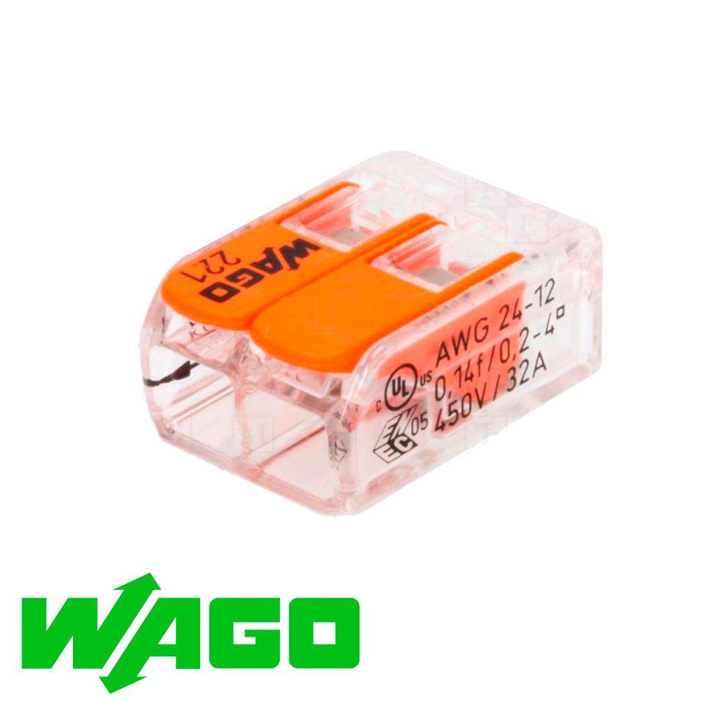 CONECTOR AUTOMÁTICO WAGO 221-412 2X4MM