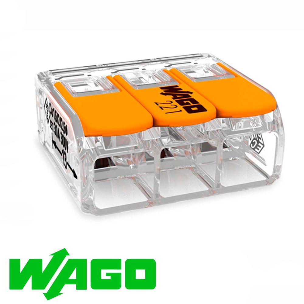 CONECTOR AUTOMÁTICO WAGO 221-413 3X4MM