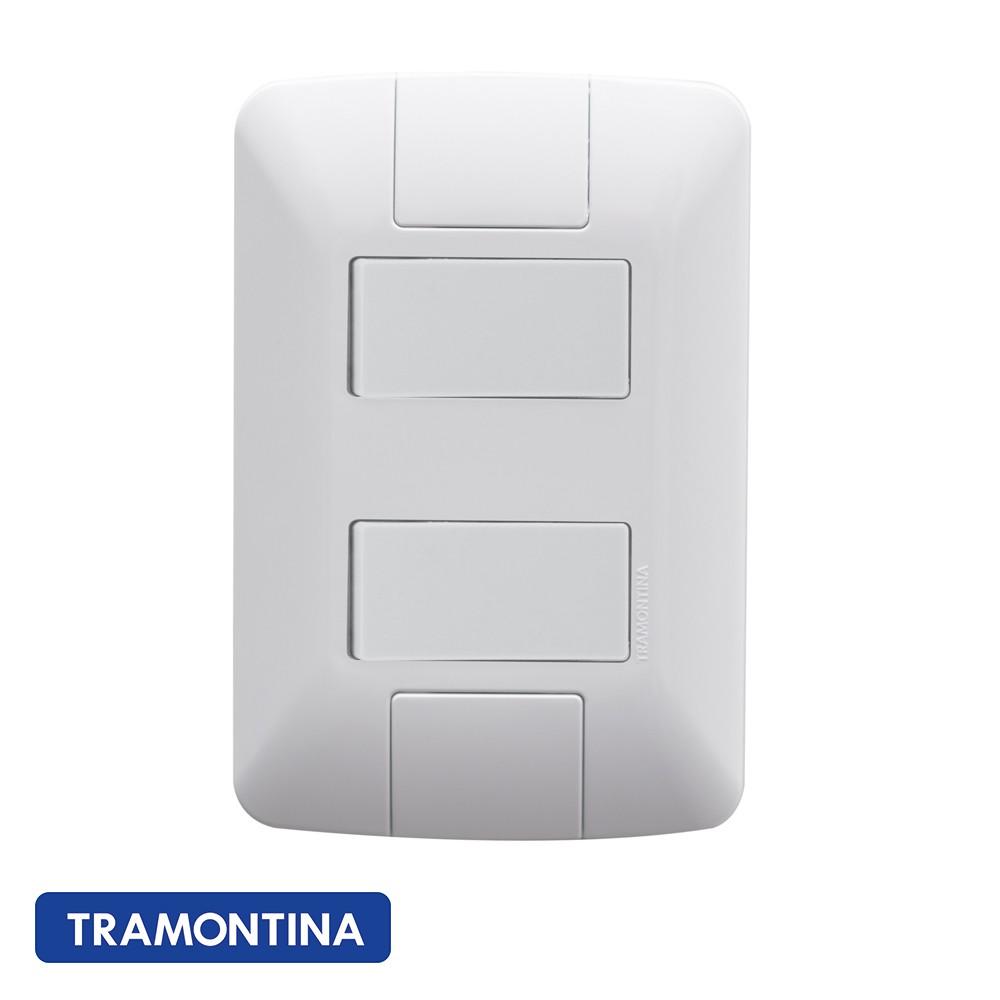 CONJ ARIA 4X2 2 INTERRUPTORES SIMPLES TRAMONTINA - 57241040