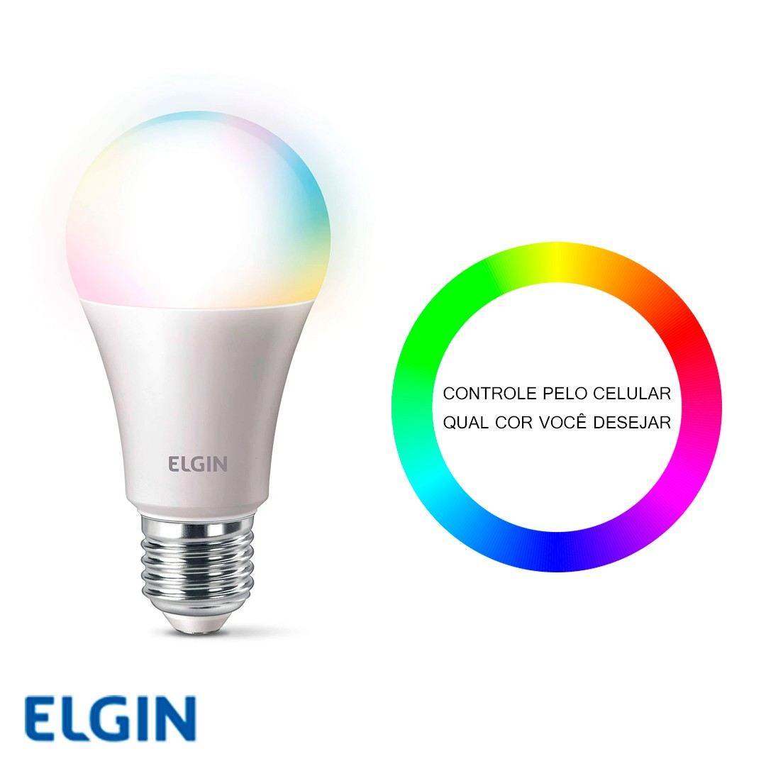 LÂMPADA ELGIN SMART COLOR WIFI A60 LED BULBO