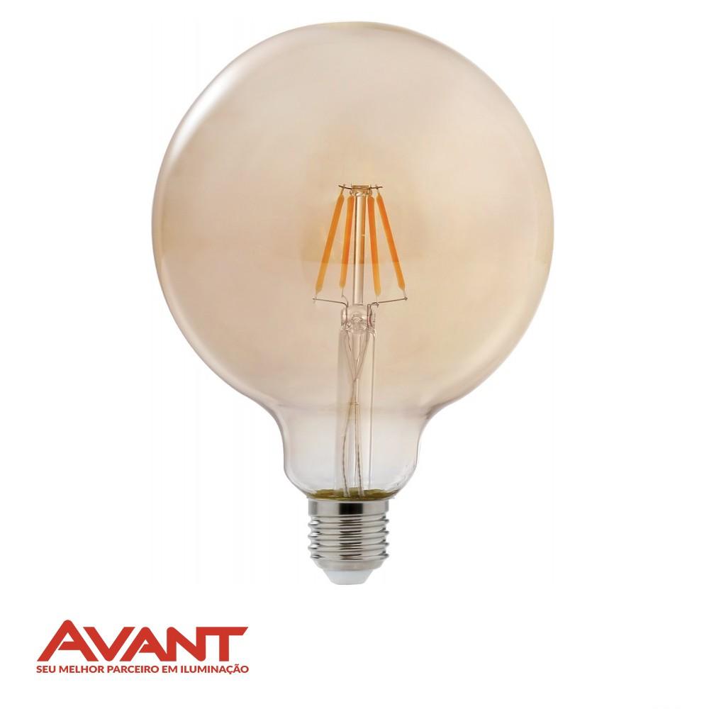 LAMPADA RETRO FILAM LED BALAO AVANT 4W E27 G125