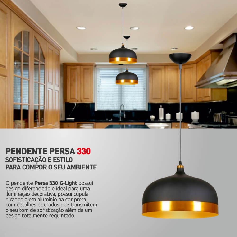 PENDENTE PERSA PRETO/DOUR 1XE27 330