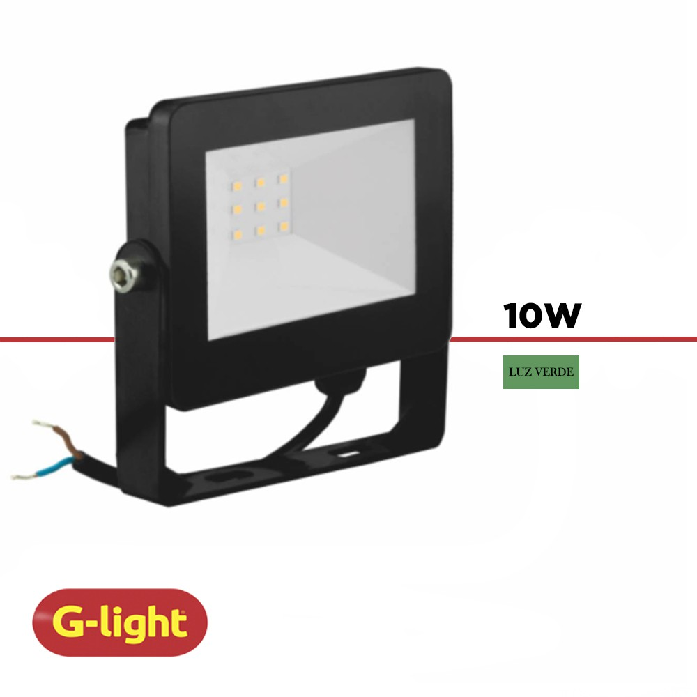REFLETOR LED G-LIGHT 10W LUZ VERDE