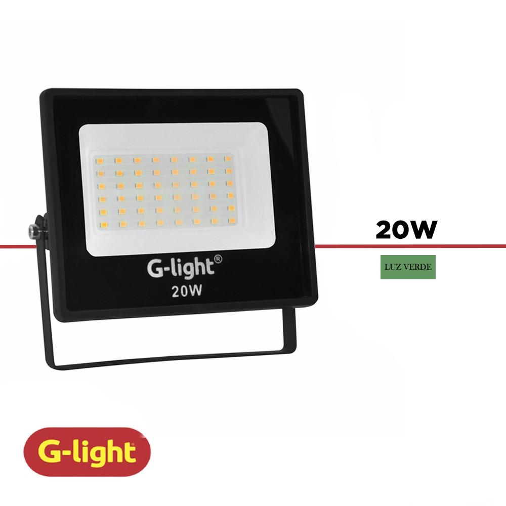 REFLETOR LED G-LIGHT 20W LUZ VERDE