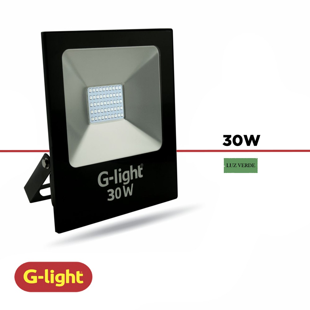 REFLETOR LED LUZ VERDE G-LIGHT 30W