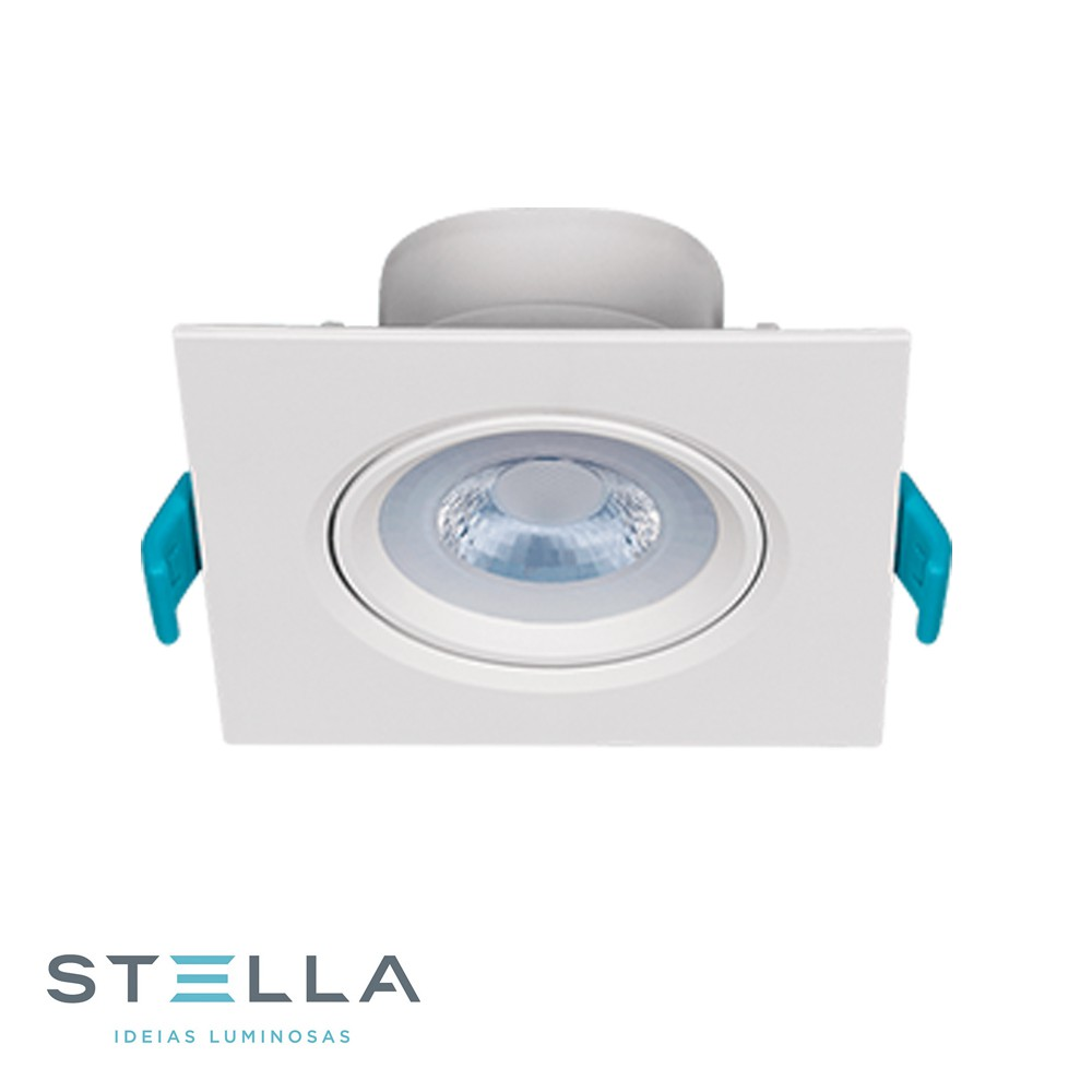 SPOT LED EMB QUADRADO MR16 STELLA 4,5W STH7915/30