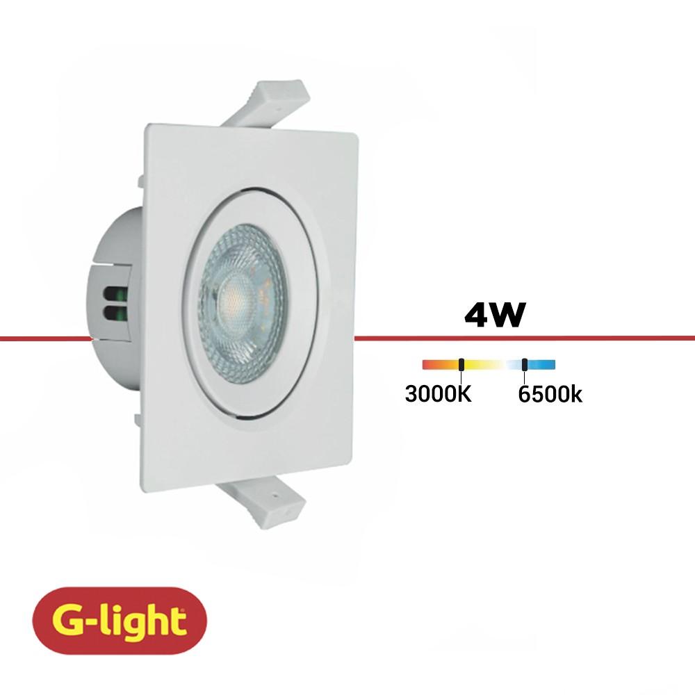 SPOT LED EMBUTIR QUADRA. G-LIGHT 4W
