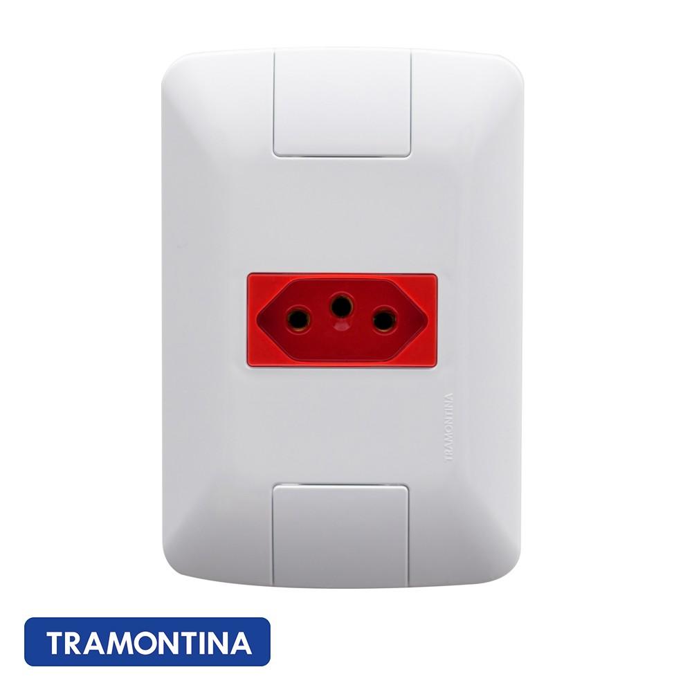 TOMADA ARIA 20A/250V VERME. TRAMONTINA - 57241015