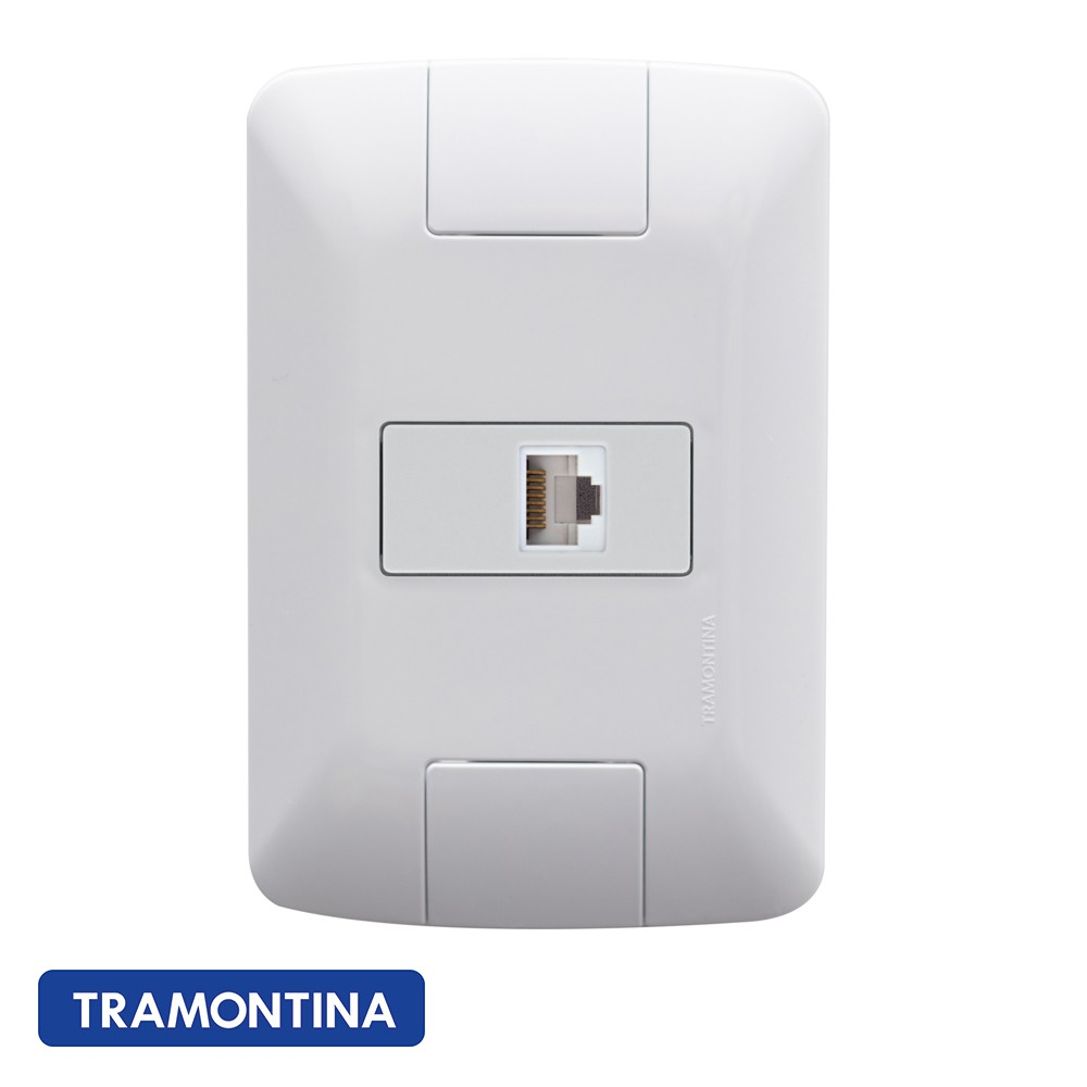 TOMADA ARIA TELEFONE RJ 11 TRAMONTINA - 57241019  - Elétrica Brasil