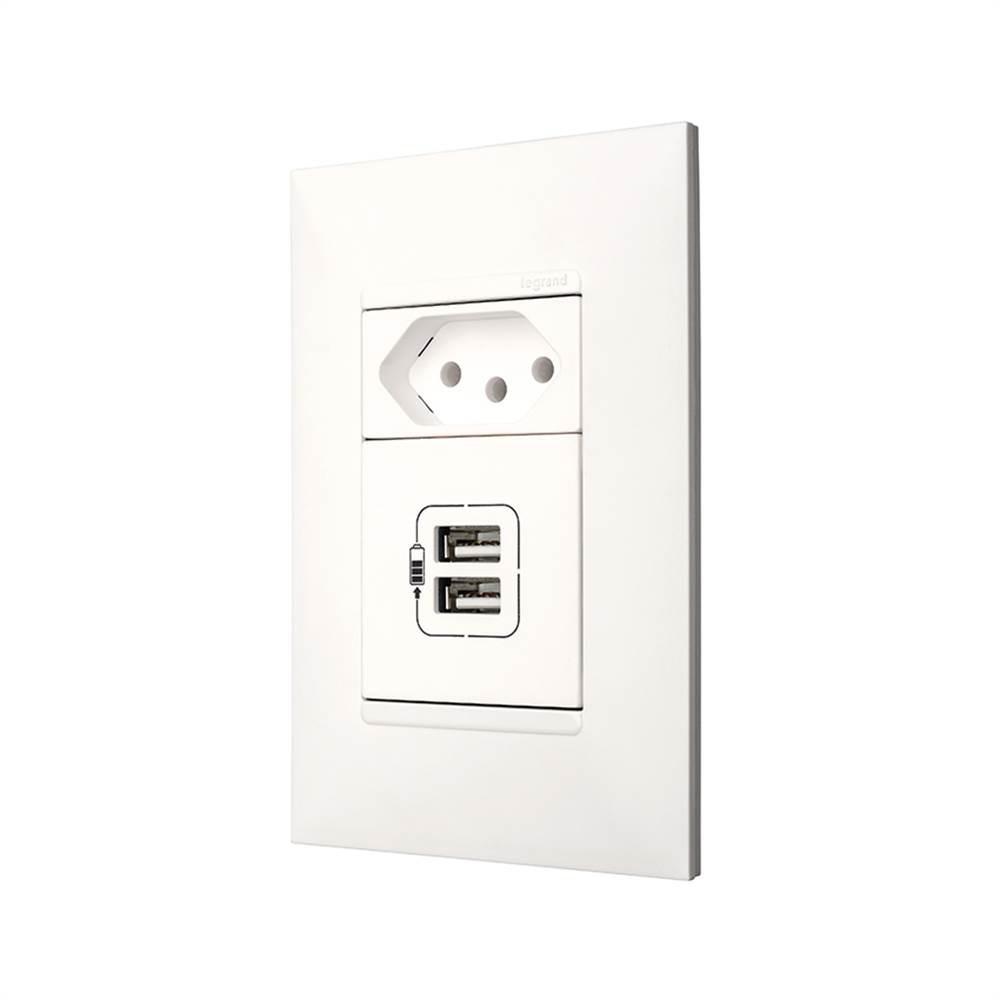 TOMADA PIAL PLUS+ CARREGADOR USB BR 615093