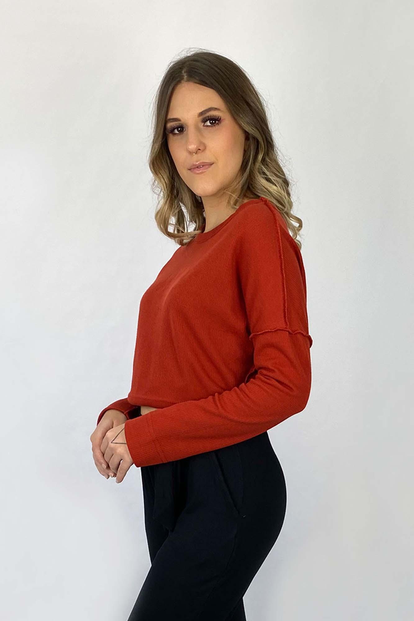 Blusa Dupla Face Zoe Telha