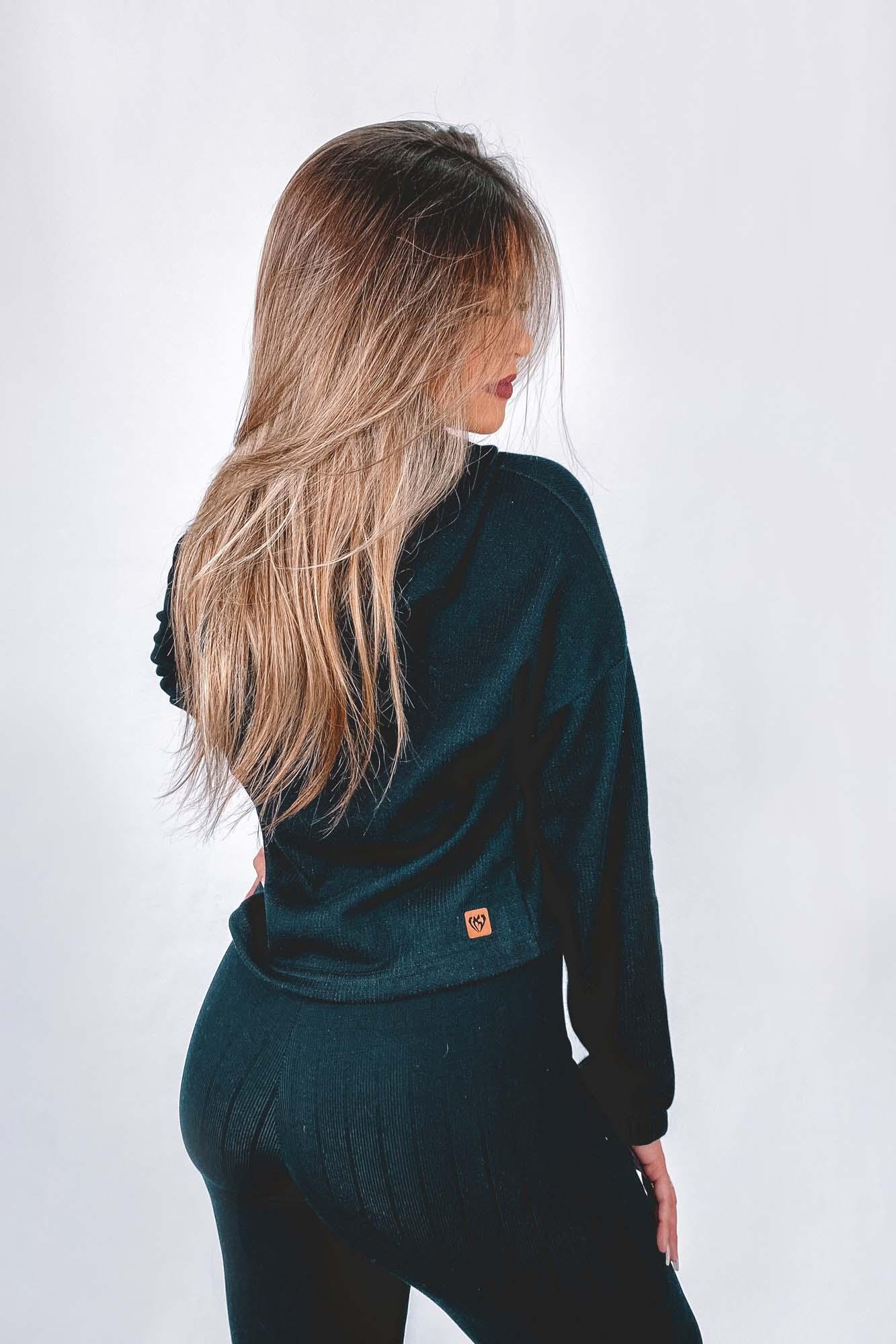 Blusa Lana Preta