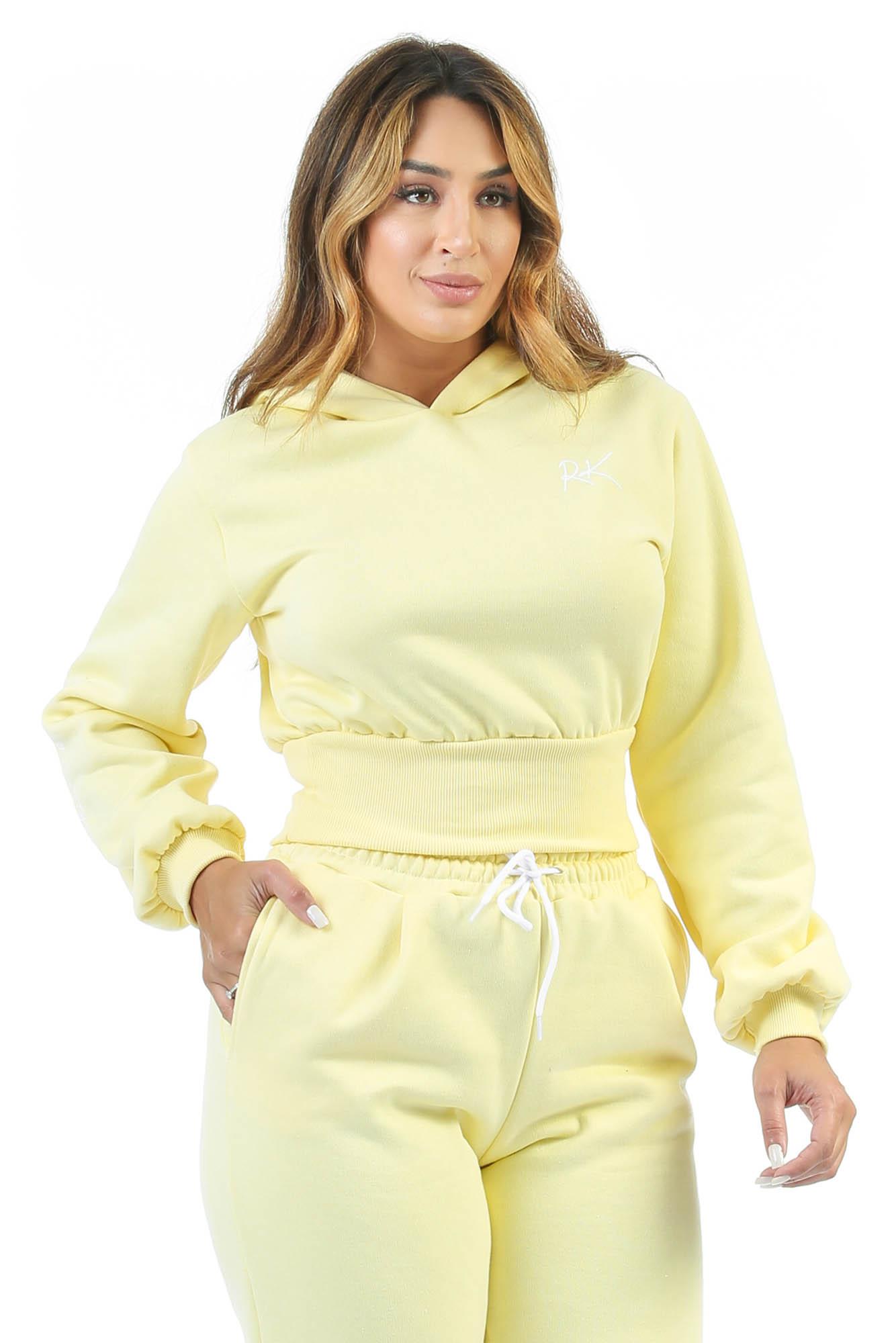 Blusa Moletom Baddie Baby Amarelo