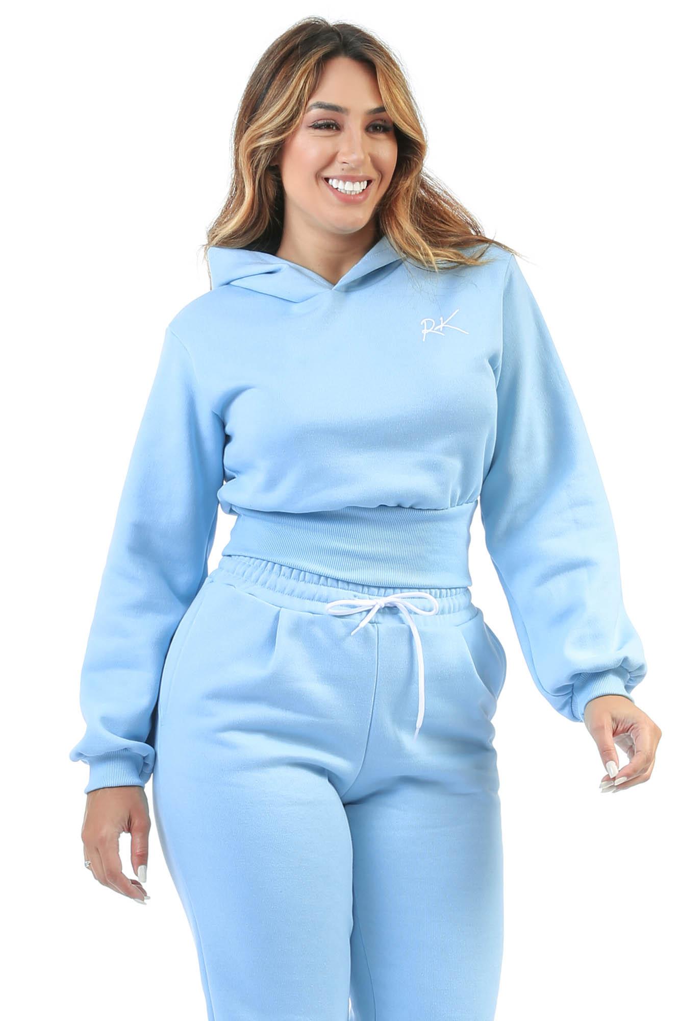 Blusa Moletom Baddie Baby Azul