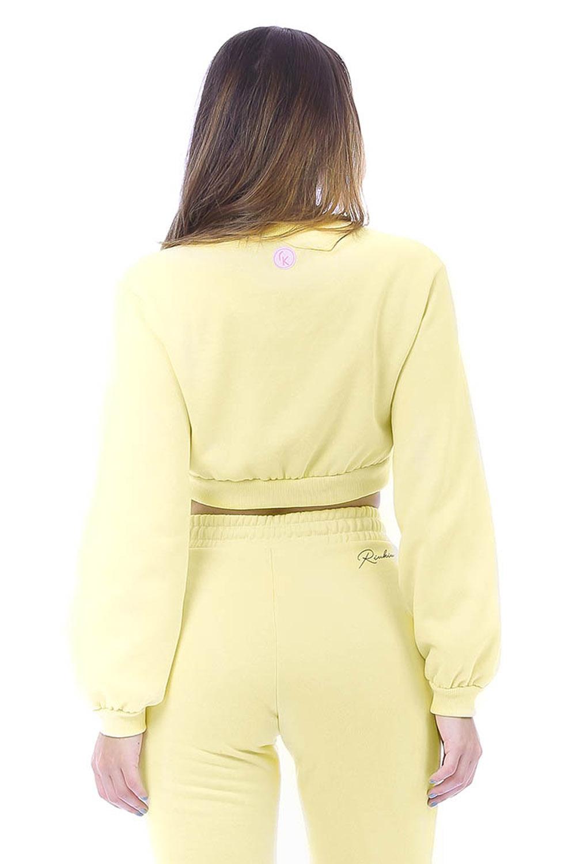 Blusa Moletom Comfy Cropped Amarelo