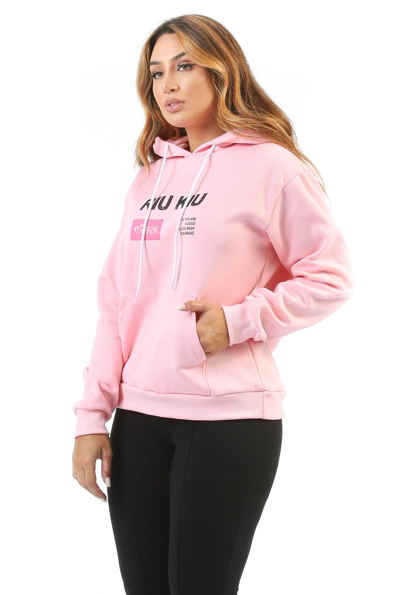Blusão de Moletom 92K Rosa
