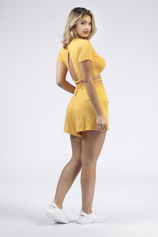Blusinha Amarração Mafê Amarelo