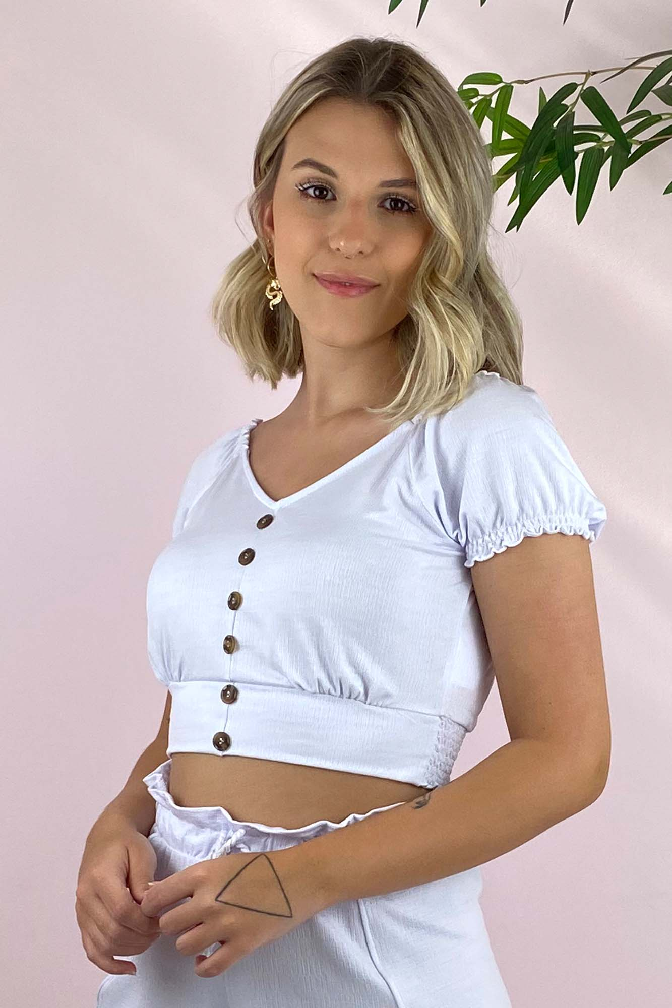 Blusinha Melina Branca