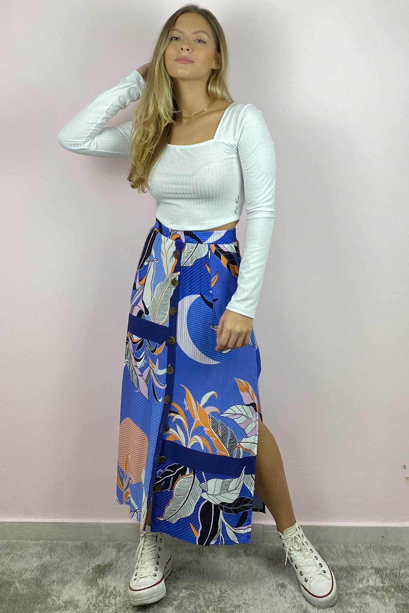 Blusinha Decote Quadrado Tatiana